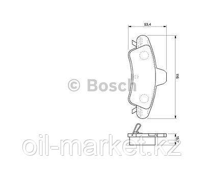 BOSCH Колодки тормозные Ford Mondeo II 1.6-2.5 (96-00), фото 2