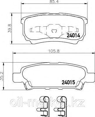 JAPANPARTS тормозные колодки задние Mitsubishi Lancer X 08-; Lancer X 03-; Outlander I (CU_W) 03-08
