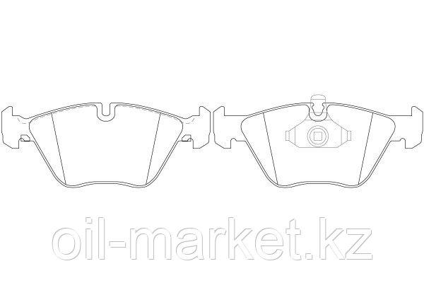 NIBK тормозные колодки, передние BMW 3-Series (E46) 330, 330 xi (02/98-04/05), X3 (E83) (01/04 ->), фото 2