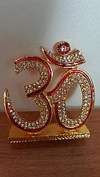 Сувенир ОМ,металл,стразы(красно-золотой)