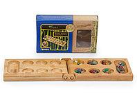 Настольная игра Калаха Манкала,  дорожная версия из бамбука, фото 1