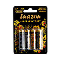 Солевая батарейка Luazon АА R6, super heavy duty (комплект из 12 шт.)