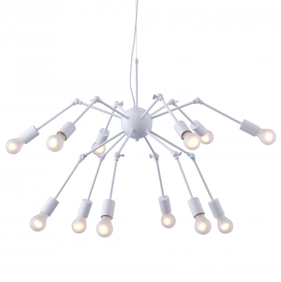 Люстра паук белая 12 рожков