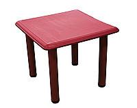 Детский стол, пластиковый (красный)