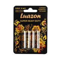 Солевая батарейка Luazon ААА R03, super heavy duty (комплект из 12 шт.)