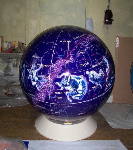 Глобус звездного неба 1м 30 см, вращаемый во всех направлениях, разборный