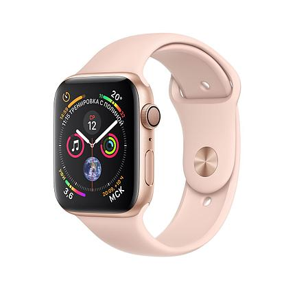 Apple Watch 40mm Series 4 Gold Aluminum Case with Pink Sand Sport Band, фото 2