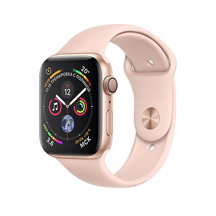 Apple Watch 44mm Series 4 Gold Aluminum Case with Pink Sand Sport Band, фото 2