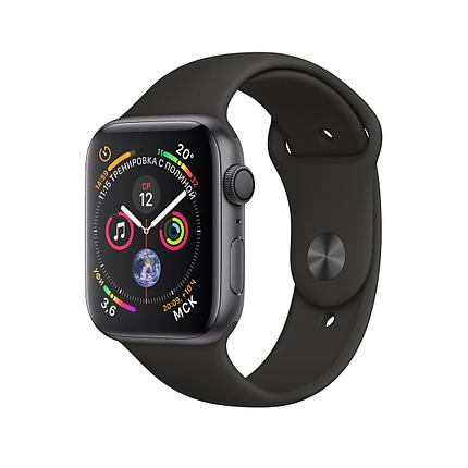 Apple Watch 40mm Series 4 Space Gray Aluminum Case with Black Sport Band, фото 2