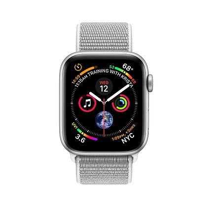 Apple Watch 40mm Series 4 Silver Aluminum Case with Seashell Sport Loop, фото 2