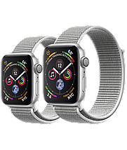 Apple Watch 40mm Series 4 Silver Aluminum Case with Seashell Sport Loop, фото 3