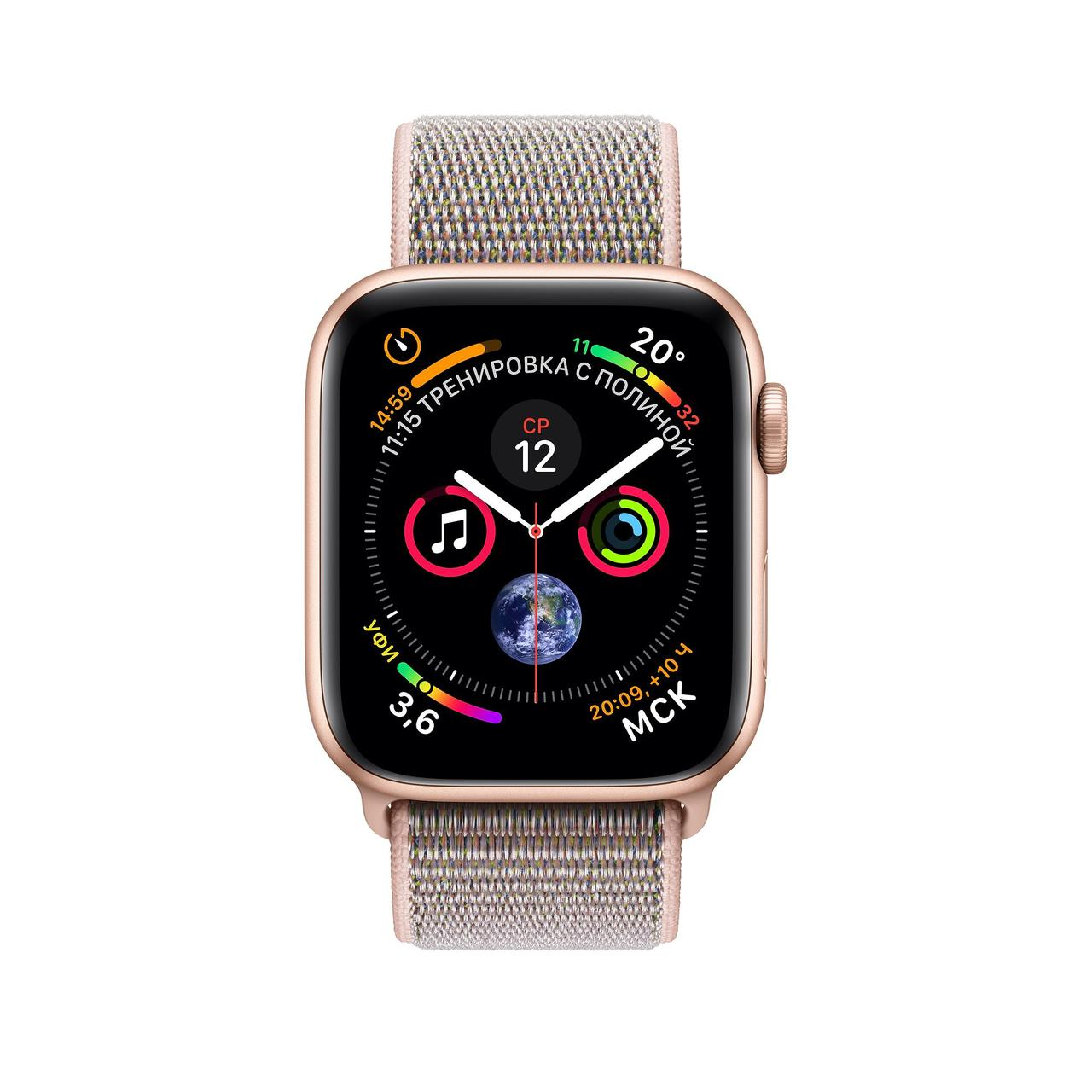 Apple Watch 40mm Series 4 Gold Aluminum Case with Pink Sand Sport Loop