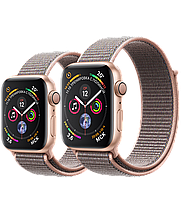 Apple Watch 44mm Series 4 Gold Aluminum Case with Pink Sand Sport Loop, фото 3