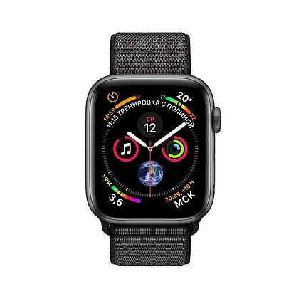 Apple Watch 44mm Series 4 Space Gray Aluminum Case with Black Sport Loop, фото 2