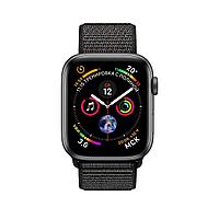 Apple Watch 44mm Series 4 Space Gray Aluminum Case with Black Sport Loop