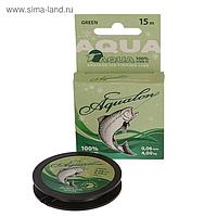 Леска плетёная Aqua Aqualon Dark-Green, 15 м, d=0,06 мм
