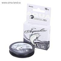 Леска плетёная Aqua Aqualon Black, 15 м, 0,08 мм