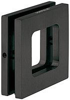 Ручка для стеклянной двери 8-12.7 мм, 70х70 мм, графитовый черный