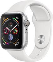 Apple Watch 40mm Series 4 Silver Aluminum Case with White Sport Band