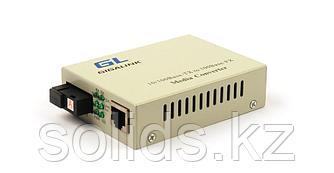 Медиаконвертер неуправляемый, из UTP, 100Мбит/c в WDM, SM, SC, Tx:1550/Rx:1310, 18 дБ, до 20 км, без LFP