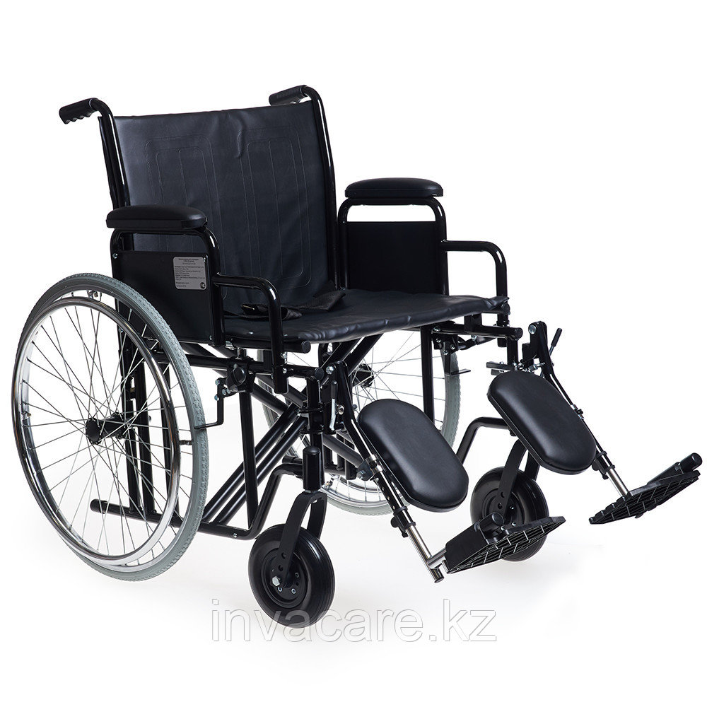 Кресло-коляска для инвалидов  повышенной грузоподъемности и увеличенным сиденьем H 002 (22 дюйма)