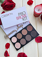 #BPK Beauty Creations Pro Brow Kit 6 +2 Набор для бровей тени, консилер, воск Оригинал 603149301696