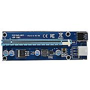 Riser / Райзер PCIE 1x - 16x, 6 PIN, версия 006c