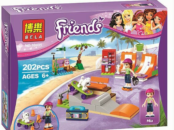 Конструктор Bela Friends Скейт-парк 10491 (Аналог Lego Friends 41099) 202 детали