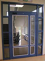 Установка алюминиевых дверей