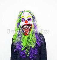Латексная маска на хэллоуин злой клоун 010