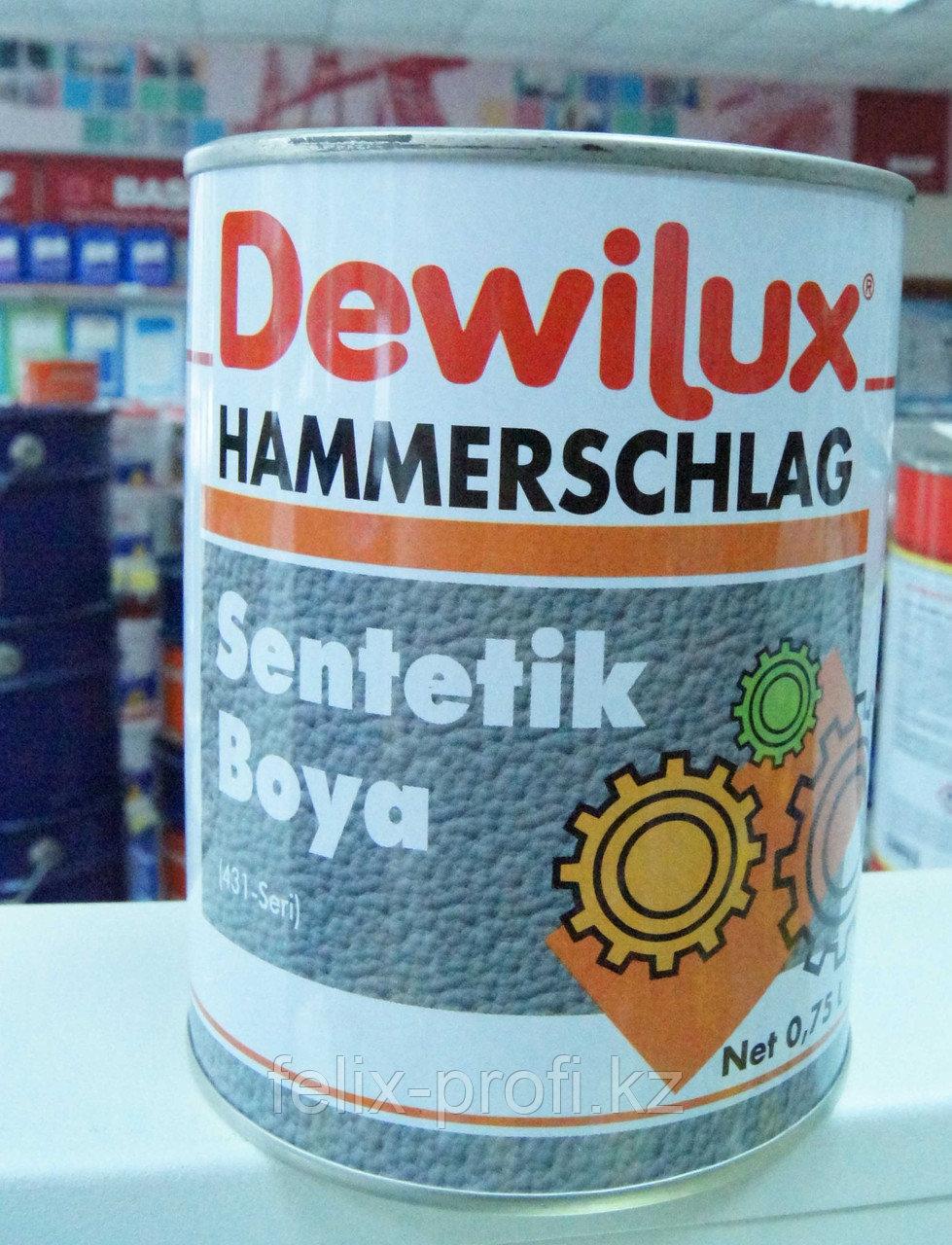 DEWILUX молотковая эмаль 6017, темно-коричневая 2,5