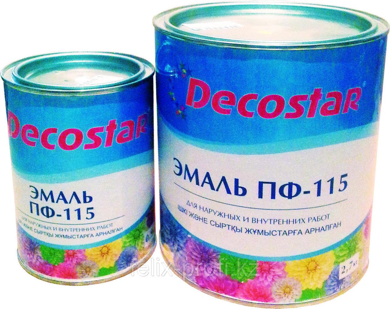 Decostar Эмаль ПФ-115 зеленая, 0.9 кг
