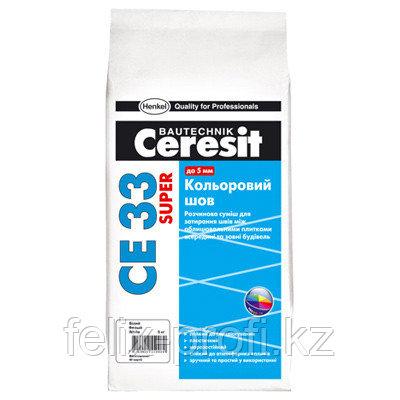 Ceresit  CE 33 SUPER затирка для узких швов до 5 мм, цвет: Белый (KZ), 1 кг