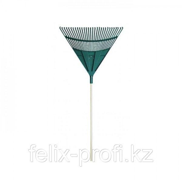 WORTH, 2417, 30-Зубчатые Пластиковые Грабли, 120Cm С Деревянной Ручкой