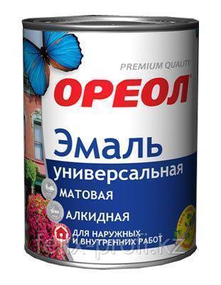 """Эмаль акриловая """"ОРЕОЛ"""" глянцевая серая (пластик) 2.5 кг"""