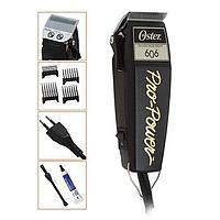 """Машинка рабочая """"OSTER PRO POWER-606"""", регулируемый нож, 4 насадки, вибрационная, 10W"""