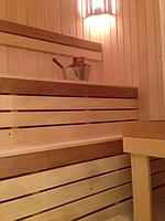 "Финская сауна в квартире. Размер = 1,6 х 1,8 х 2,1 м. Адрес: г. Алматы, ж.к. ""Тан Нуры"". 8"