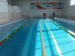 Скиммерный бассейн (спортивный). Размер = 25 х 11 х 1,7 м. Адрес: г. Актобе. 1