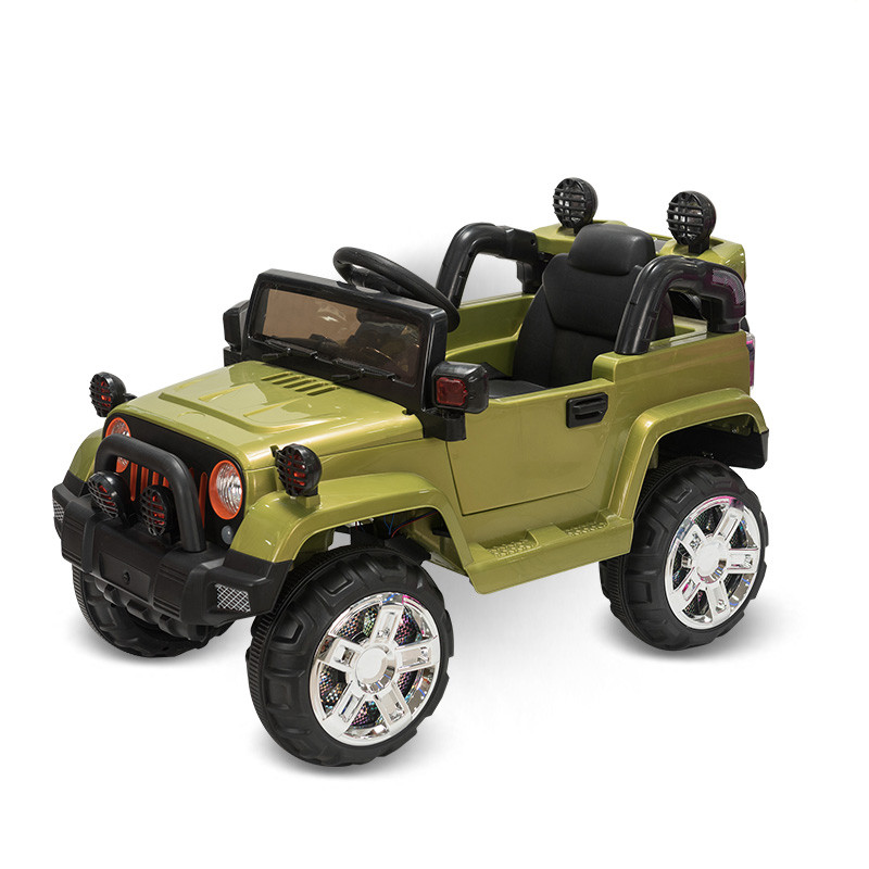 Электромобиль Jeep Wrangler FB-716, хаки гель