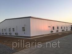 офис заказчика. стеновые панели 120мм, кровля 150мм цвет серый