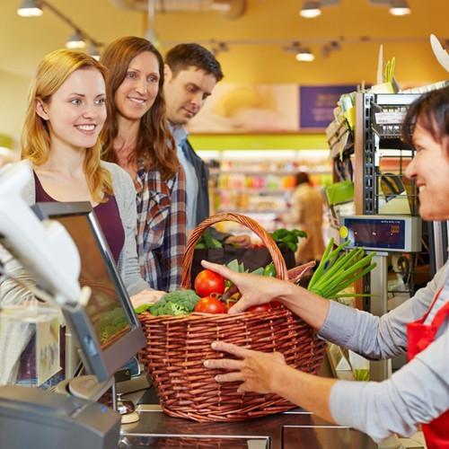 Установка видеонаблюдения в супермаркете