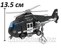 Детская музыкальная игрушка инерционный полицейский вертолет Wenyi