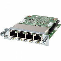 Cisco Four port 10-100-1000 Ethernet switch interface card PoE