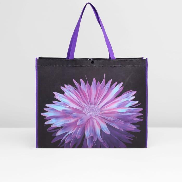 """Сумка для покупок """"Цветок"""", 1 отдел, цвет фиолетовый"""