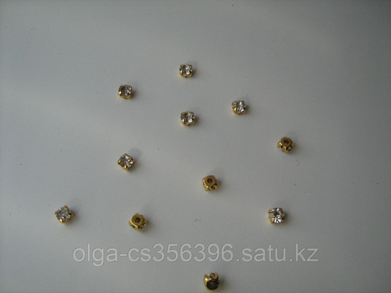 Стразы пришивные (клеевые) 7 мм. Creativ  2286