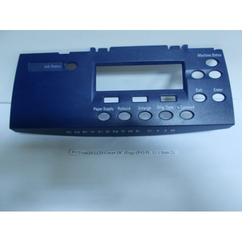 Xerox 802E68620 LCD Cover DC Eng P/O PL 1_1 Item 8