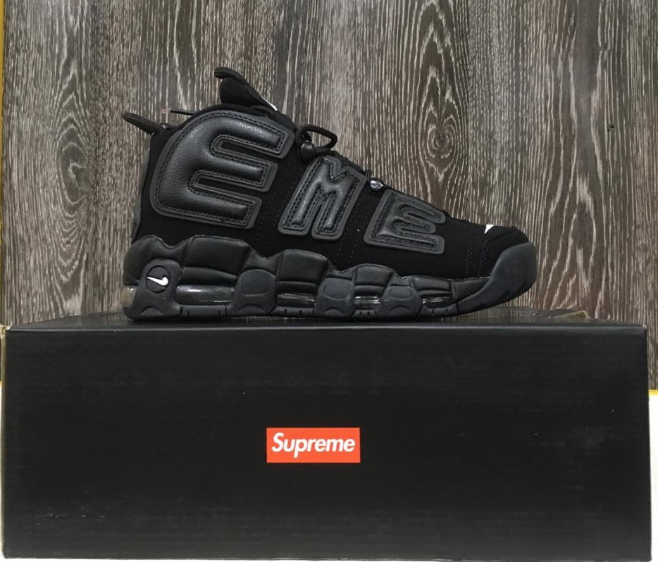 "Кроссовки NIKE AIR MORE UPTEMPO ""SUPREME"" (Black)"