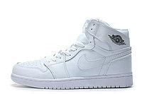 "Кожаные кроссовки Air Jordan 1 Retro ""All White"" (36-46), фото 5"