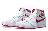 "Кожаные кроссовки Air Jordan 1 Retro ""Metallic Red/White"" (40-46), фото 1"