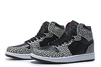 "Кожаные кроссовки Air Jordan 1 Retro ""Black/Elephant Print"" (40-46), фото 1"